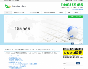 システムサーブコム様のホームページ制作